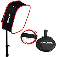Kamerar D-fuse DF-1M LED Light Panel Softbox: Collapsible, Diffuser Foldable Portable w/ Strap Attachment for Studio Photography Camera Video