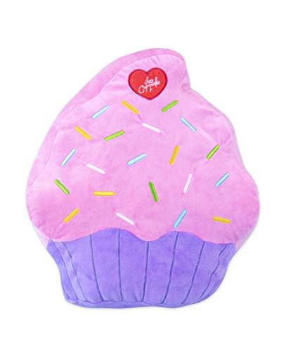 "iHasCupquake Cupcake Pillow Plush - Large 15"" Cute Pink Purple Plushie for Girls - Birthday Gift for Girls"