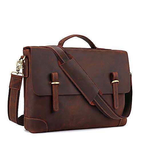 Kattee Genuine Leather Messenger Bag Tote