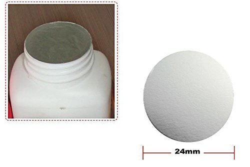 MTP 18/20/24/26/28/30/35/37/38/55mm PE Plastic Bottle Lid Aluminum Foil Cap Liner Induction Heat Sealer (1000, 24mm)