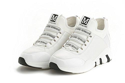 ohne Markenname LA Nago DamenschuheKeilabsatz Sneaker Bequem Freizeit Fitness Gym Laufschuhe Weiß01