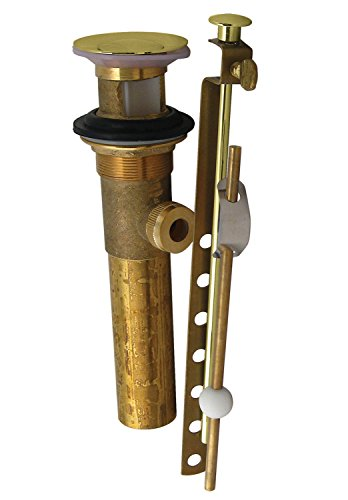 Pvd Brass Lav Drain - Westbrass D412-01 Pop-up Lav Drain with Overflow Holes - PVD Polished Brass