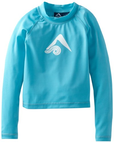 Kanu Surf Little Boys' Toddler Platinum Long-Sleeve Rashguard, Aqua, 2T