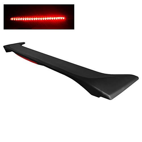(For [Paintable] 2006-2010 Honda Civic 4DR Sedan Rear Trunk Lip Spoiler Wing W/LED Brake)