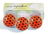 Navika Orange with Black Polka Dot Golf Balls (Sleeve of 3)
