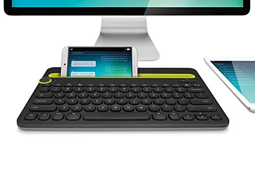 Black Logitech Bluetooth Multi-Device Keyboard K480 for Computers Renewed Tablets and Smartphones 920-006342
