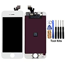 cellphoneage For iPhone 5 New LCD Touch Screen Replacement White Display Glass Touch Screen Digitizer Assembly With Free Repair Tool Kits