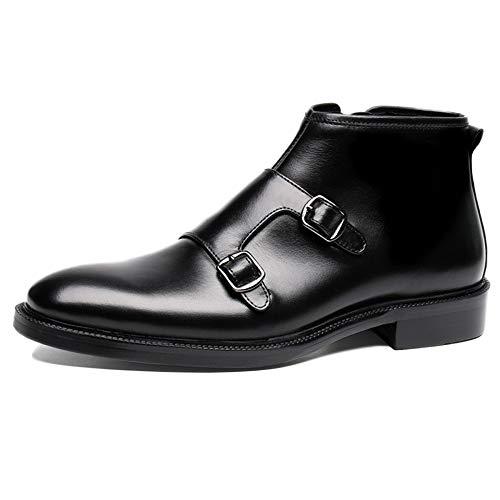 Punta A da Scamosciata Sicurezza Martin Scarpe Chelsea Stivali Pelle Black Boots Pelle in Classic Sposa Alte Scarpe Uomo Centrali Brogue nqwU4AS