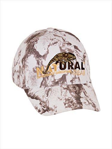 Natural Gear Snow Camo Cap 6-Panel Baseball Hat, Unisex Cotton Cap, Hunting Cap, Baseball Cap for Men (Snow Camo) (Natural Hat Gear)