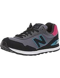 New Balance Women's 515v1 Sneaker, LIGHT ALUMINUM/BLACK, 5.5 M US