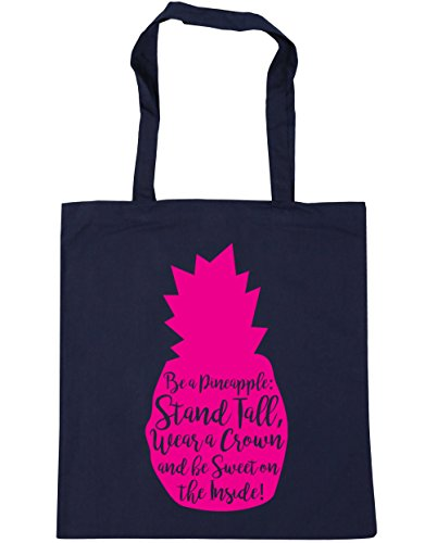 Be x38cm French On and Stand litres Be Tall Wear The 42cm Pineapple Bag HippoWarehouse Shopping 10 Inside a Navy Crown A Sweet Gym Beach Tote Rgzwpxq