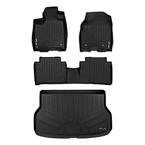 (SMARTLINER Floor Mats and Cargo Liner Set Black for 2013-2018 Acura RDX With 4-Way Front Passenger Seat)