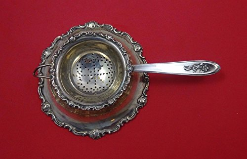 Sterling Flatware Tea Strainer (Camusso Sterling Silver Tea Strainer with Stand No Hallmark Made In Peru)