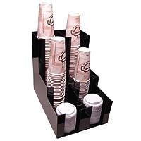 Organizador de la tapa de la taza Dispensador de la taza de café Organizador de la encimera del carrito de bebidas 2wx3d Organice su mostrador de café con estilo (1007) Servicio pesado