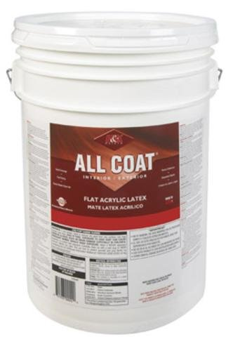 H&K Paint Company Acrylic Latex Paint Interior/Exterior Flat Basic White 5 Gl