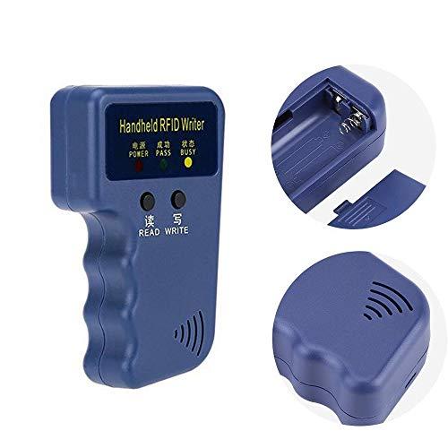 Windfally RFID Reader Writer,RFID Copier,RFID Cloning Handheld RFID Card Copier Duplicator for Door Access Control with 1 RFID Reader Writer +6pcs Writable EM4305 ID Cards +6pcs Writable EM4305 ID Ta by Windfally (Image #1)