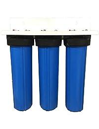 """3 Etapa 20 """"Big Blue toda la casa filtro de agua Activado Alúmina W   Radial Flow Bloquear - Elimina el flúor, arsénico, sedimentos, cloro, de carbono y cloraminas"""