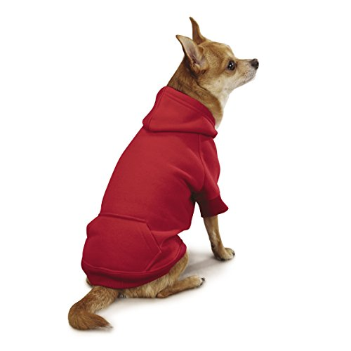 Casual Canine Basic Hoodie for Dogs, 24'' XL, Red by Casual Canine (Image #1)