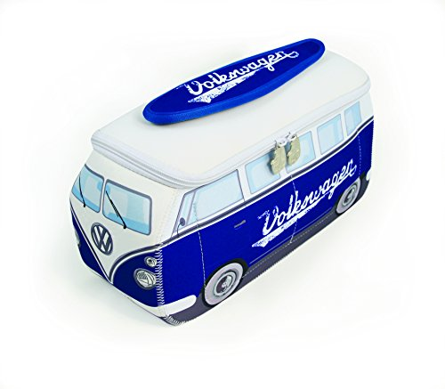 VW Collection by BRISA VW T1 Bus 3D Neoprene Universal Bag, Blue/White by VW Collection by BRISA