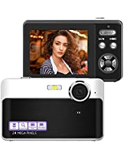 $33 » Digital Camera, 24MP Portable Point and Shoot Camera with 32GB Micro SD Card, 2.4 Inch LCD Screen Compact Vlogging Camera with Macro Function for Kids Students Amateurs