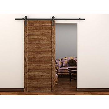 "SLI 6'11"" Steel Barn Door Hardware with Anti-Skipping Design 16"" Stud Holes!"
