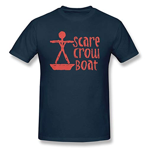 (DoerKain Scarecrow Boat Bachalor Party Edition Men's Tee Fashion T-Shirt Navy)