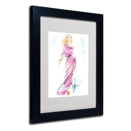 - Raspberry Swirl by Jennifer Lilya, White Matte, Black Frame 11x14-Inch