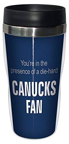 (Tree-Free Greetings sg24197 Canucks Hockey Fan Sip 'N Go Stainless Steel Lined Travel Tumbler, 16-Ounce)