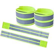 no!no! Reflective Elastic Armbands/Wristbands/Ankle Bands/Leg Bands for Running,Cycling,Jogging,Walking and Other Sport. Adjustable/High Visibility. Fit Men,Women,Adults and Kids