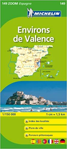 Costa De Valencia Espagne Carte.Valencia Costa Del Azahar 11149 Carte Zoom Michelin Kaart