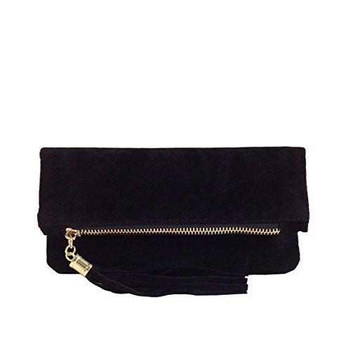 JNB Women's Microsuede Foldover Mini Pouch ()