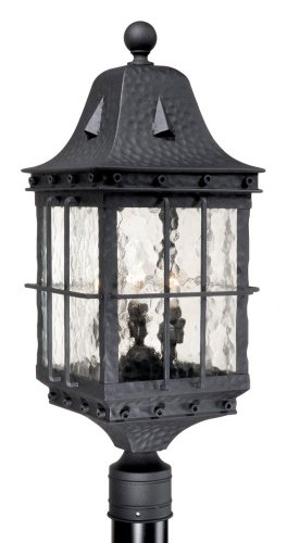 Wrought Iron Outdoor Lamp Post - 8