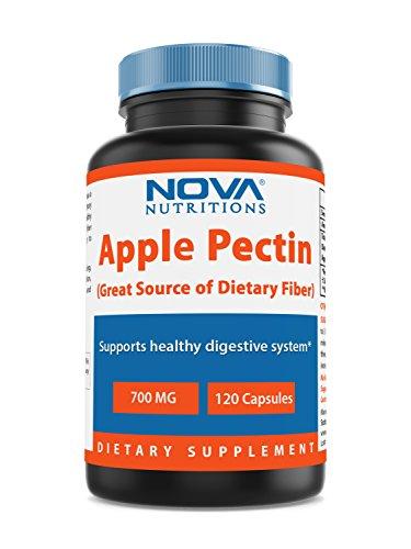 - Nova Nutritions Apple Pectin 700 mg 120 Capsules