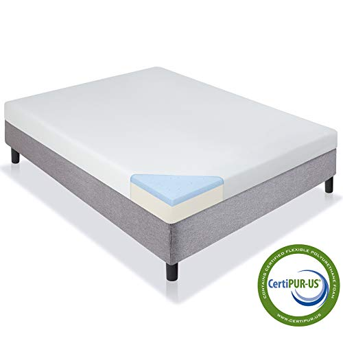 Best Choice Products 5in Dual-Layered Gel-Infused Ventilated Medium-Firm Memory Foam Mattress w/Open-Cell Cooling, CertiPUR-US Certification - Queen