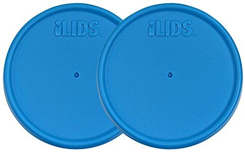 ILids Wide Mouth Mason Jar Storage Lid, Sky Blue, 2-Pack