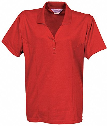 Women's Knit Shirt, Metro Red, 4XL