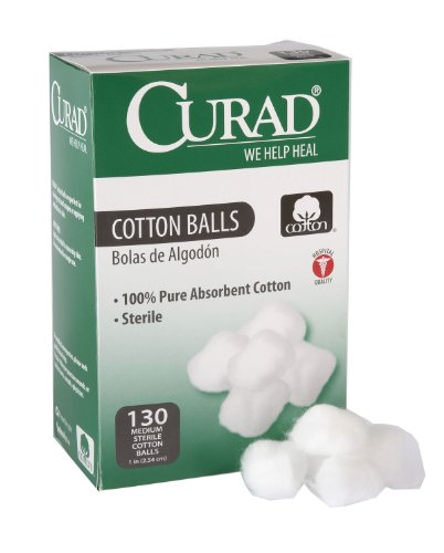 Curad Cotton Balls 130 Each (Pack of 6) ()