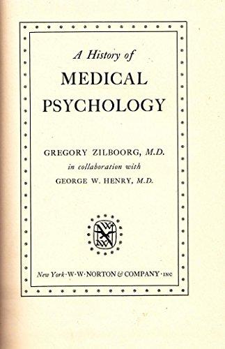 A History of Medical Psychology.
