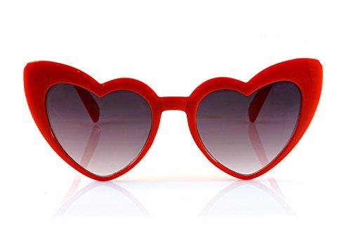 FBL Iconic Celebrity Heart Cat-Eye Smoke Lens Sunglasses A059 - Cat Eye Sunnies