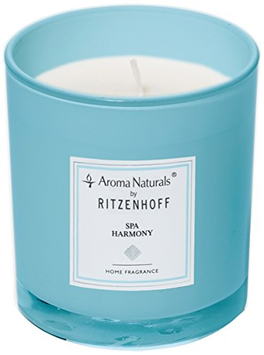 (Ritzenhoff Aroma Naturals Scented Candle, Glass, 7x 7x 8cm, Blue)