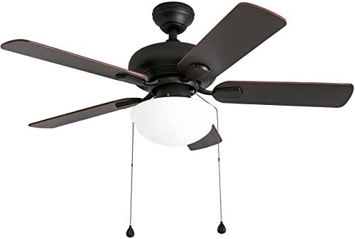 Harbor Breeze Caratuk River 42 In Oil Rubbed Bronze Indoor Ceiling Fan With Light Kit Amazon Com