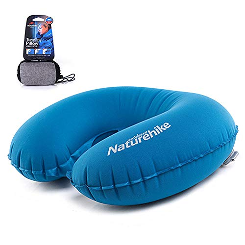 Neck Pillow for Travel Inflatable Outdoor Camping Pillow Ultralight Collapsible Travel Pillow Portable Pillow(Purple)