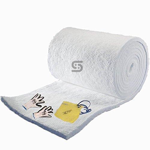 Ceramic Fiber Blanket 2600 F 10 Lbs 1 0 Inch X 24 Inch X 25 Feet Z5 Crafts Store