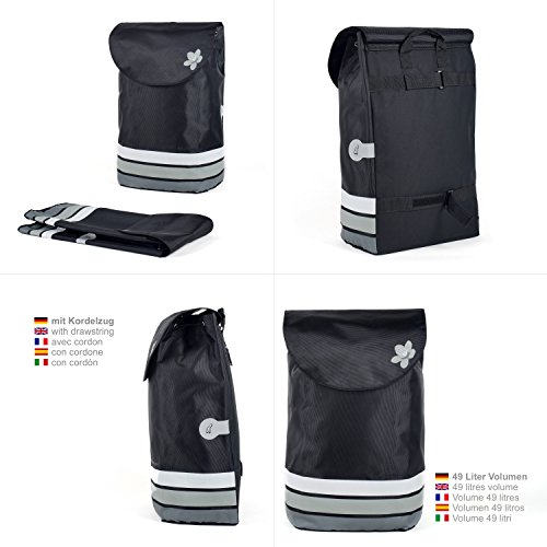 Original Andersen Unus Shopper Fun mit Tasche Blom grau