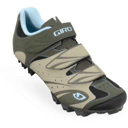 Giro 2013 Women's Riela Mountain Cycling Shoes (Khaki/Brown/Sky - 42)