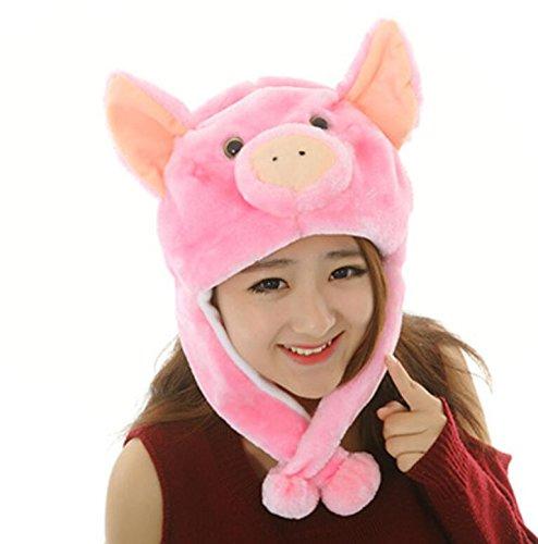Sevenpring Chic Design Cute Cartoon Performance Headwear Plush Animal Headgear (Pink Pig) by Sevenpring