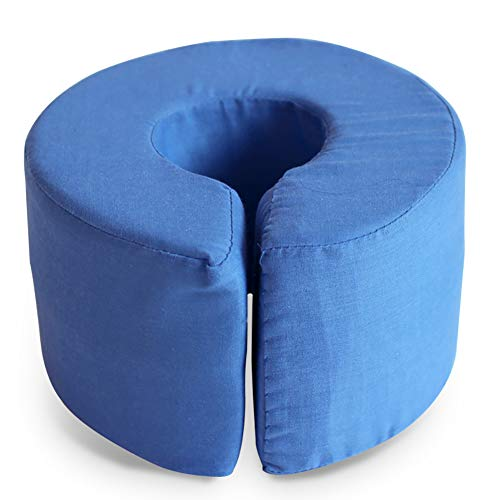 Fushida Foot Sponge Cushion Foam Hand Rest Cover Relieve Foot & Hand Pressure Prevent Bedsore Support Pillow (Blue)
