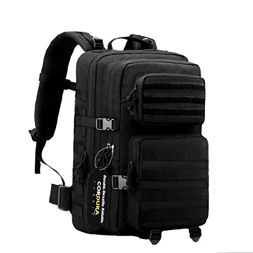 POLAR HAWK TACTICAL BACKPACK Military Backpack Bug Out Bag Molle Backpack 3 Day Assault Pack Made of Real US Cordura Fabric Perfect for Hiking Camping Trekking Hunting from POLARHAWK