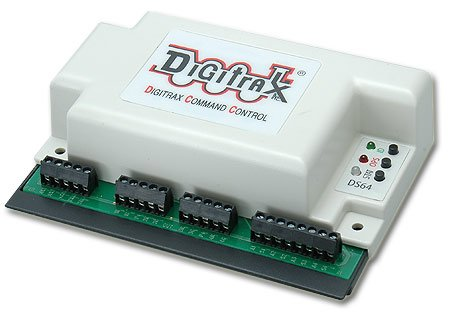Digitrax DS64 DCC Stationary Decoder, 4 Turnouts
