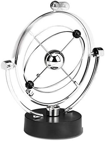 Nrpfell Perpetual Motion Schreibtisch Skulptur Spielzeug – Kinetic Art Galaxy Planet Balance Mobile – Magnetische Executive Büro Home Decor Tisch-Spielzeug – Männer Frauen Stress Relief